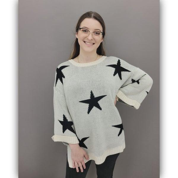 Callaway Star Sweater- Cream