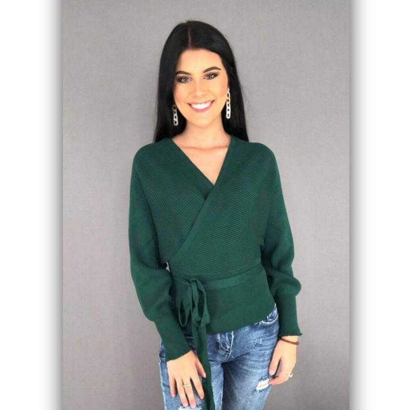Louise Wrap Sweater