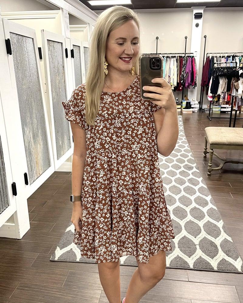 Fall frills dress