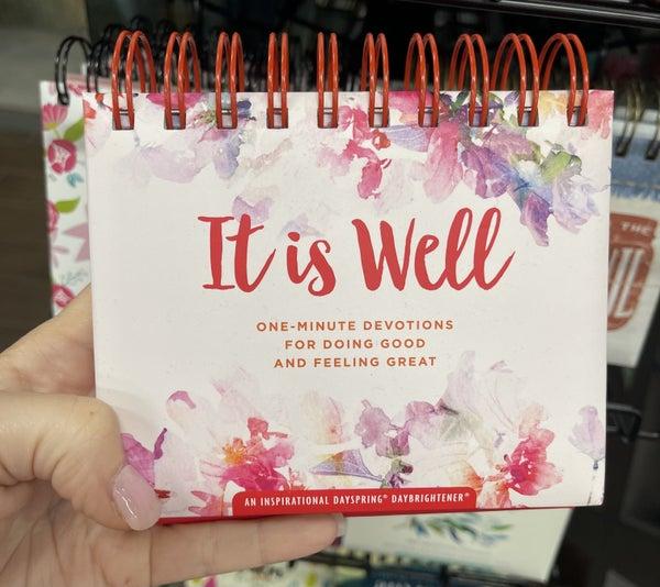 Inspirational calendar - it is well