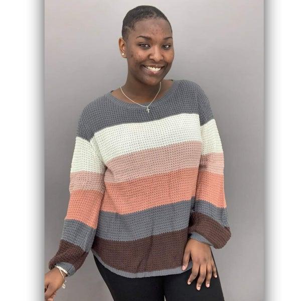 Campside Knit Sweater- Grey