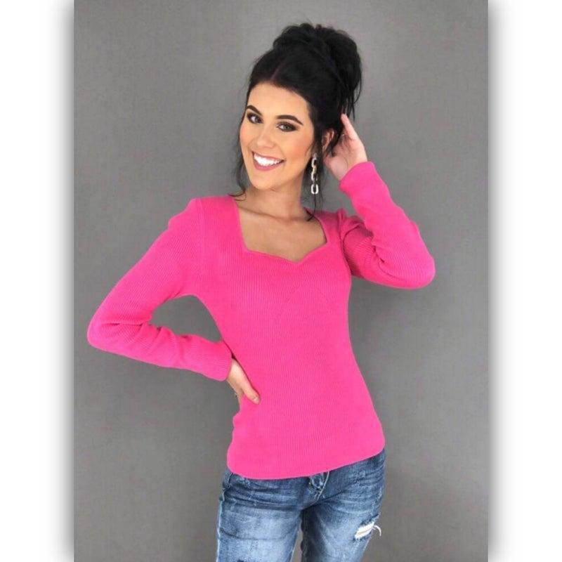 Darla Scallop Top- Pink