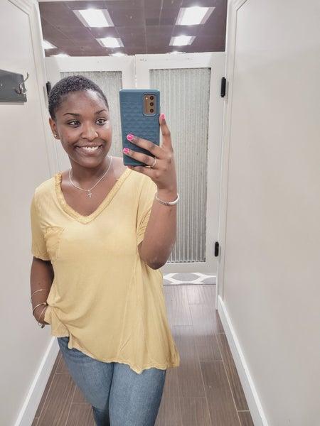 Goldie Pocket Top