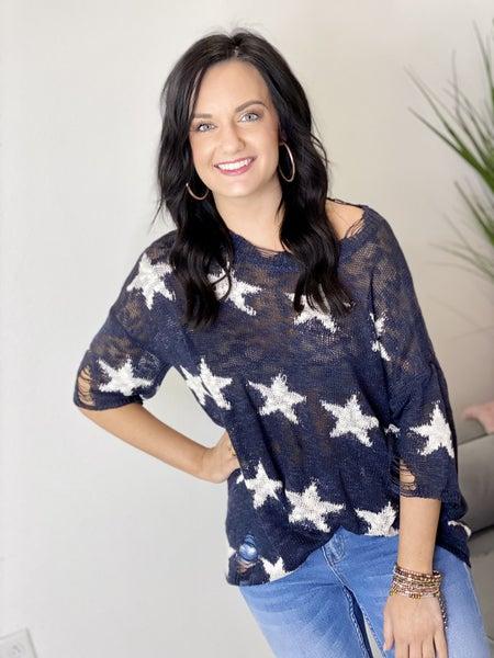 The Navy Stars Sweater