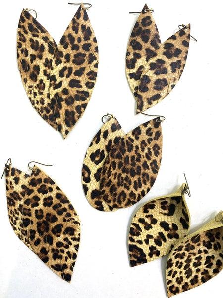 Leo Leather Earrings