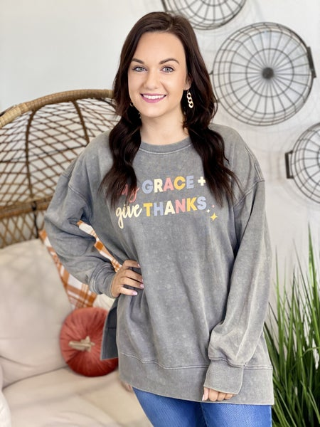 Say Grace Give Thanks Pullover