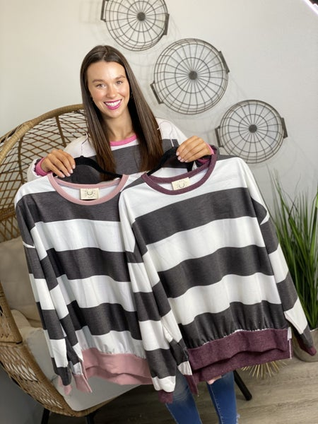 The Striped Tell It Pullover - 3 Colors