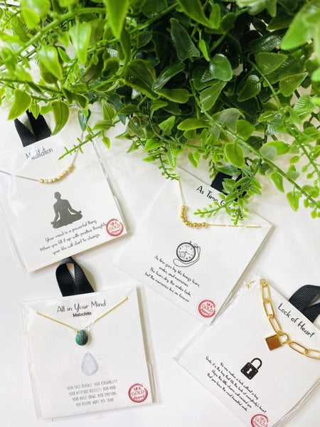 The Carded Necklaces- 4 Styles