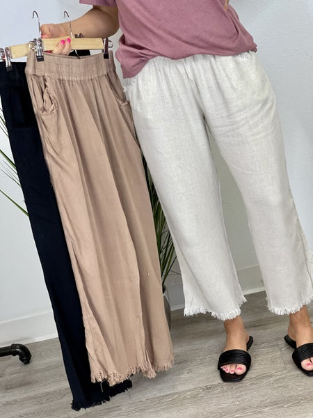 The Linen Gaucho Pants - 3 Colors, All Sizes