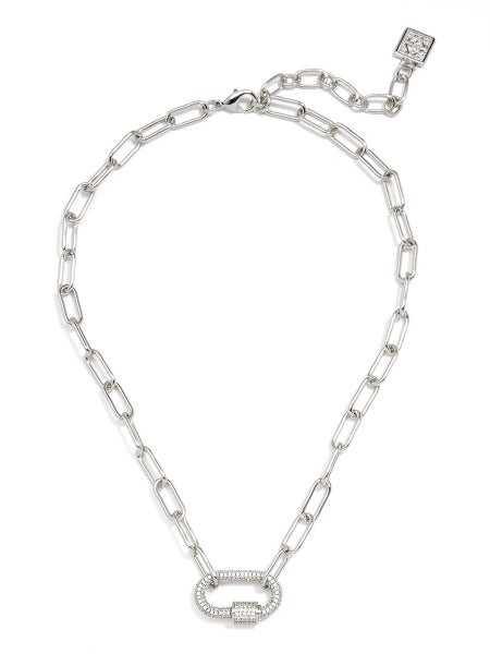 Pave Charm Collar Necklace