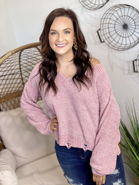 The Bailey Sweater in Mauve