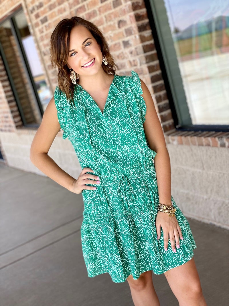 The Cape Cluster Dress in Green