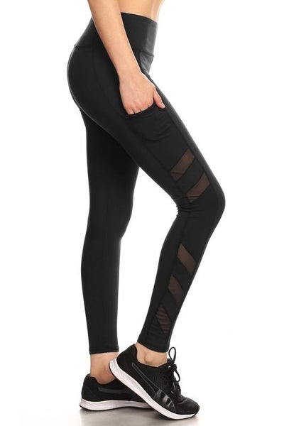 The Black Soft Mesh Leggings