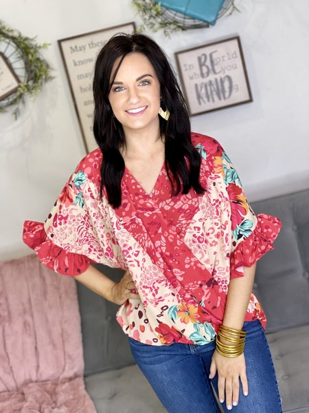 The Brandy Top in Coral - All Sizes