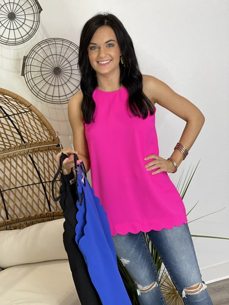 The Scalloped Tank - 3 Colors