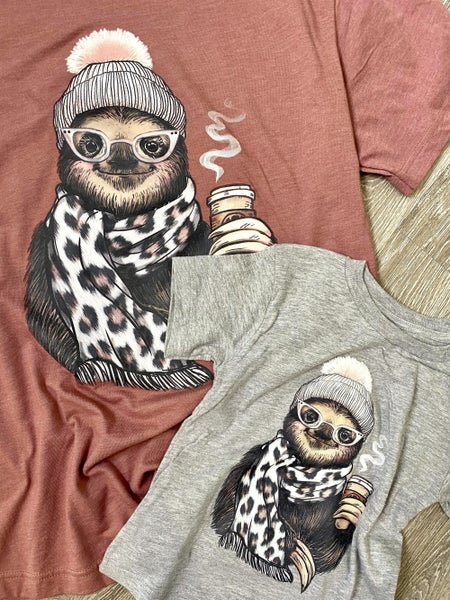 Mommy & Me Mauve Sloth Tee