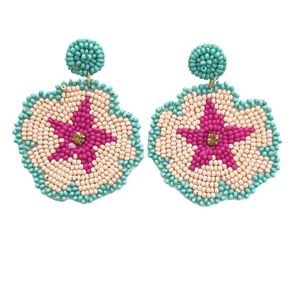 The Pink Star Earrings