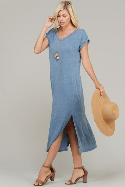 The Rica Maxi in Denim