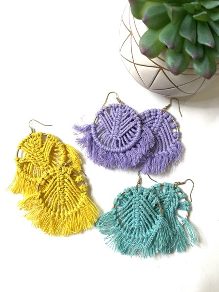 The Threaded Earrings- 3 Colors
