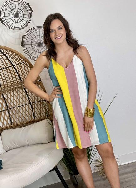 The Banana Stripe Dress