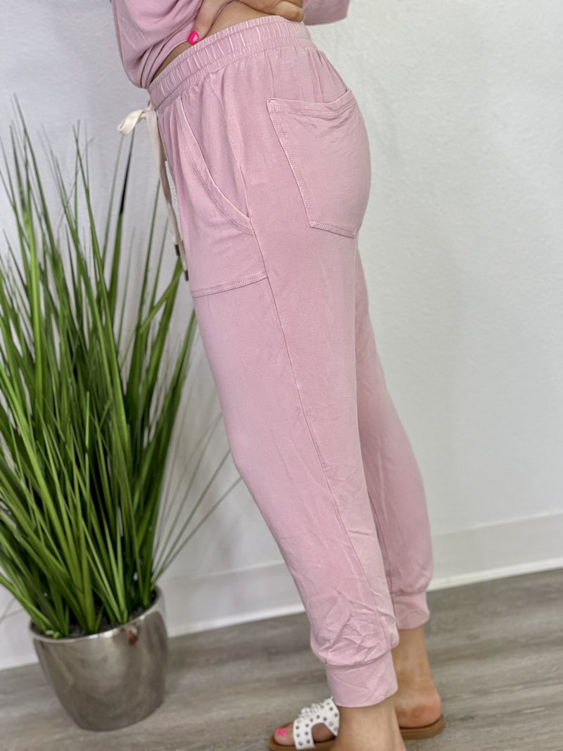 The Lush Joggers in Blush - All Sizes
