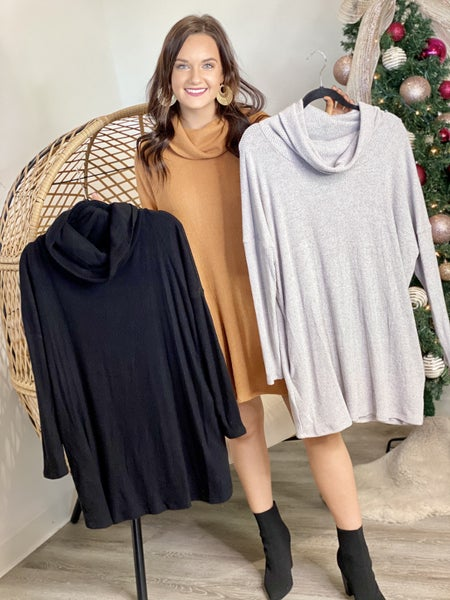 The Adrienne Cowl Neck Tunic- 3 Colors