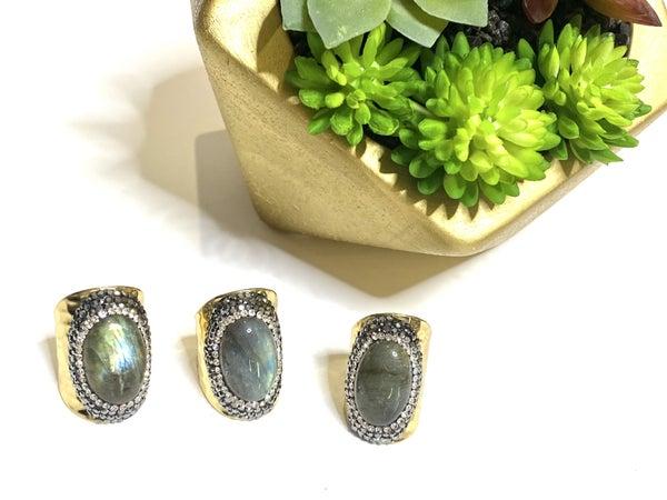 Olive MoodStone Rings