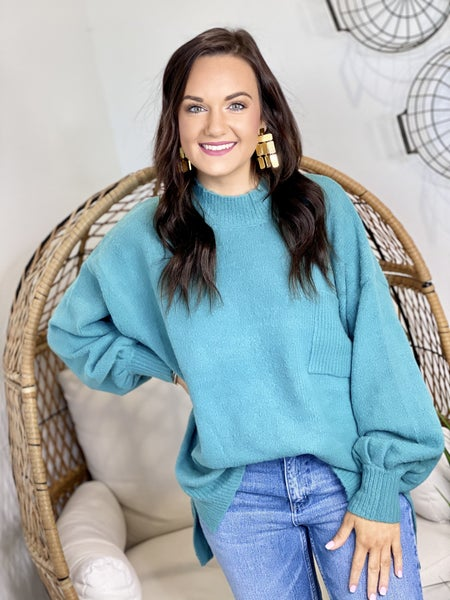 The Molly Sweater in Teal