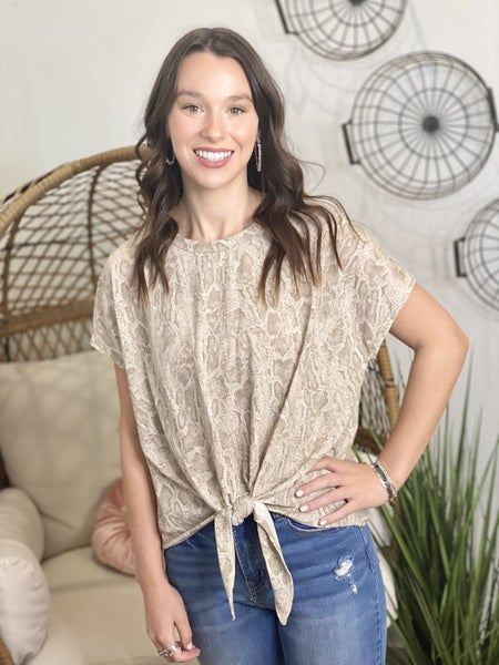 French Terry Styled Top