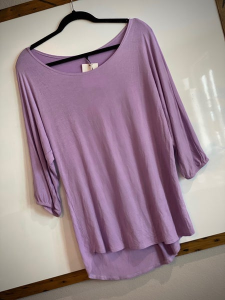 The Curvy Lilac Jersey Top