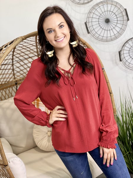 The Scrunch Blouse-2 Colors