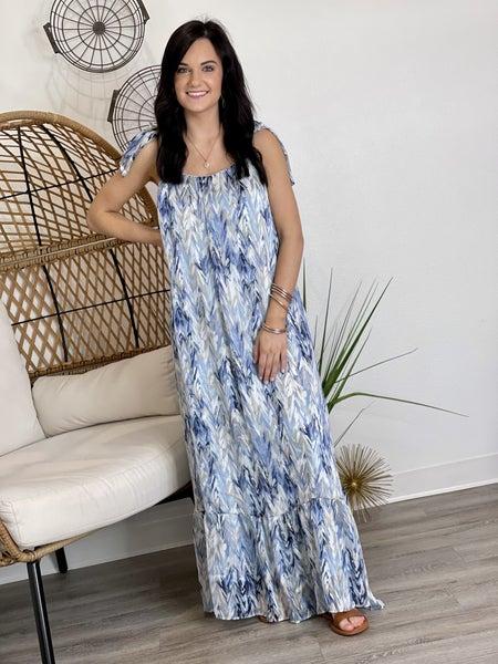 The Adrienne Maxi-Whisper Blue