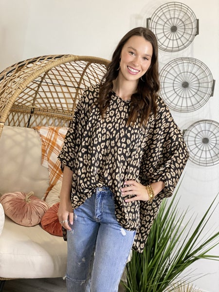The Bossy Leo Poncho Top
