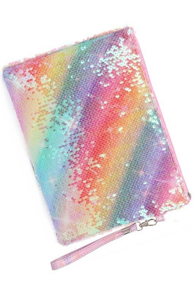 Sequin Rainbow Pouch