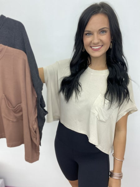 Mono Boxy Tee in 3 Colors