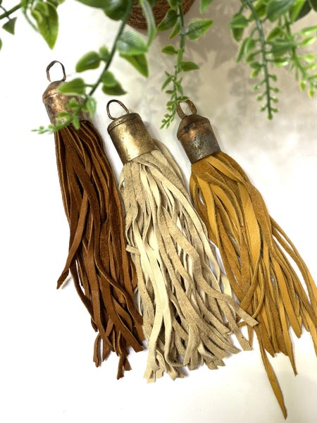 Oversized Leather Tassels