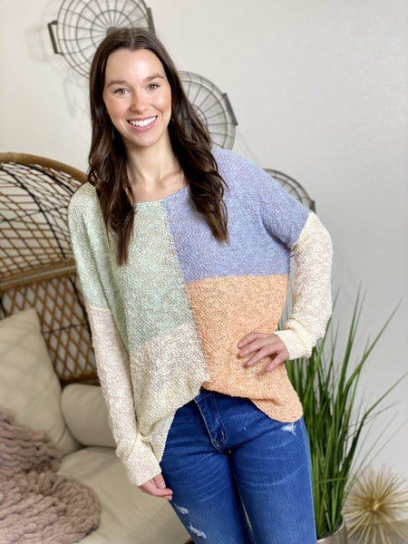 The Pastel Block Sweater