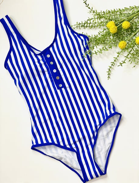 The Blue Babe Stripe Swimsuit
