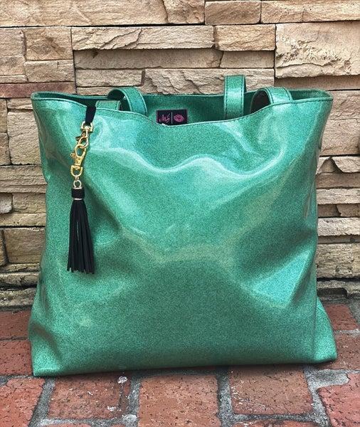 Emerald Glitter MJ Weekender