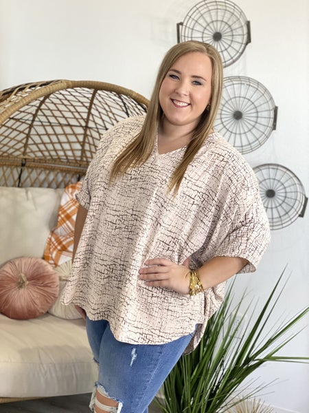 The Crackle Poncho Top