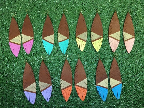Summer Sasha Leather Earrings-7 Colors