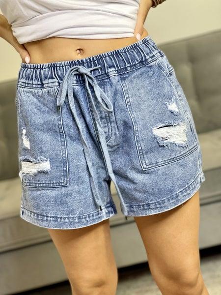 The Birch Denim Shorts-All Sizes