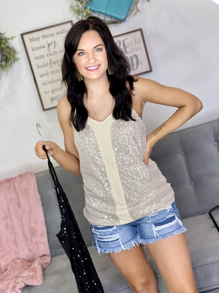 The Starstruck Sequin Cami - 2 Colors