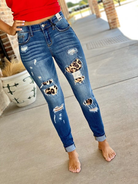 The Leo Patched Skinnies-All Sizes