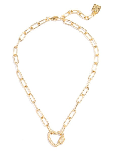 Pave Heart Collar Necklace