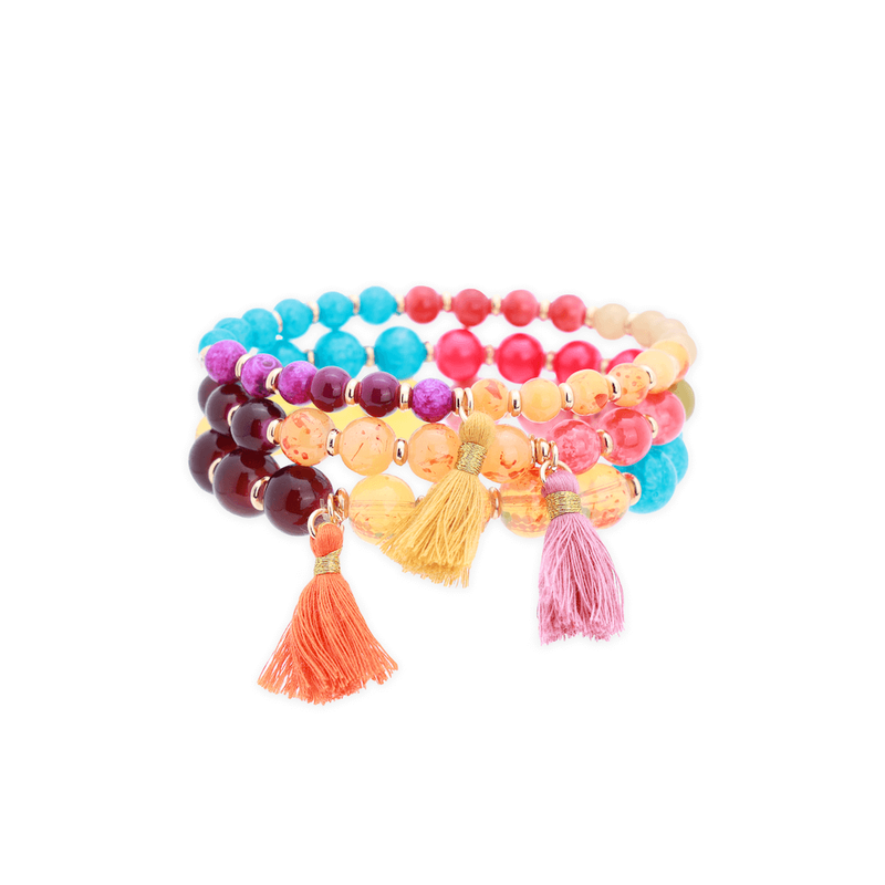 The FUCL Beaded Bracelet Set - 2 Styles