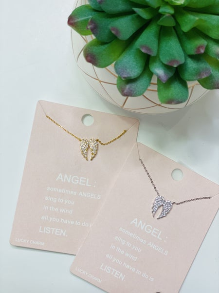 CZ Wing Necklace