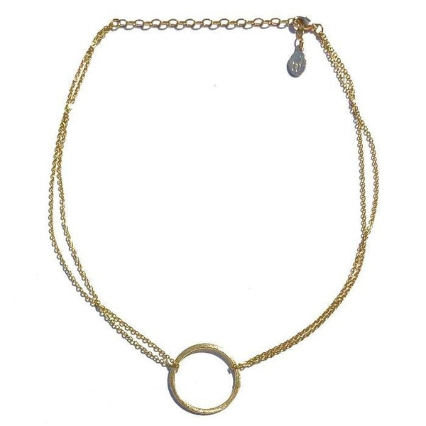 The Circle Double Chain Necklace - 2 Colors