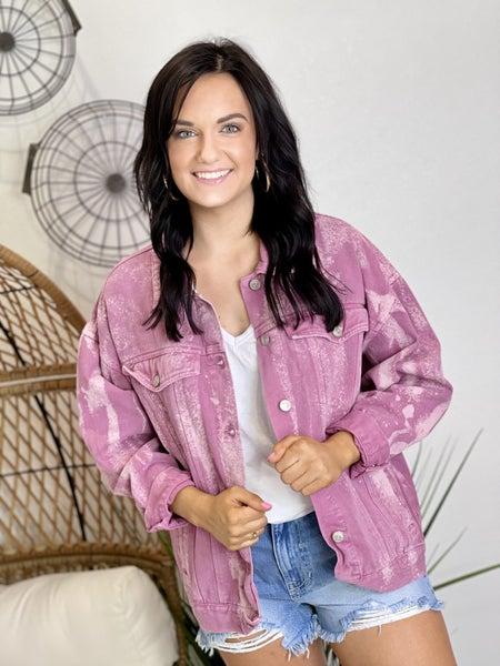 The Malibu Denim Jacket in Purple