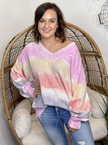 Pastel Banded Sweater